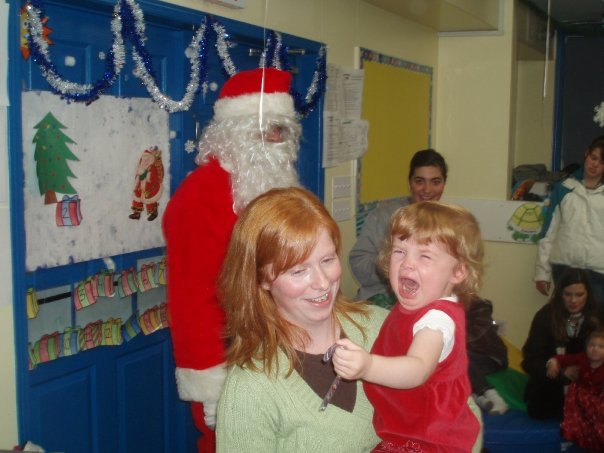 Cailley and Santa - December 2008